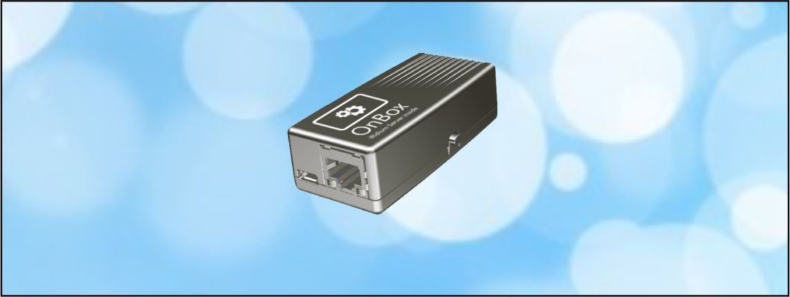 The OnBox - our smallest one! Suitable for iRidium Server projects wih up to 4 control panels.